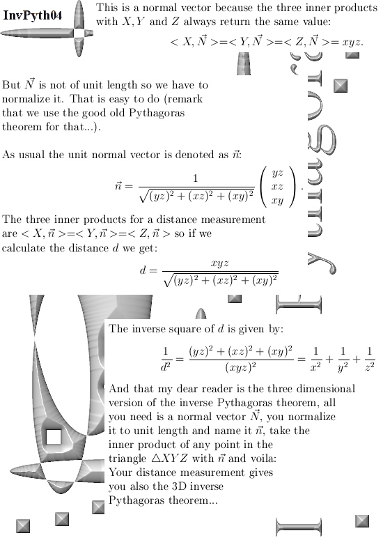 inner product normal to vector